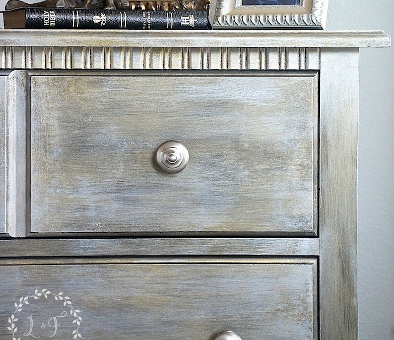 DIY Nightstand Makeover Using Fusion Studio Metallics