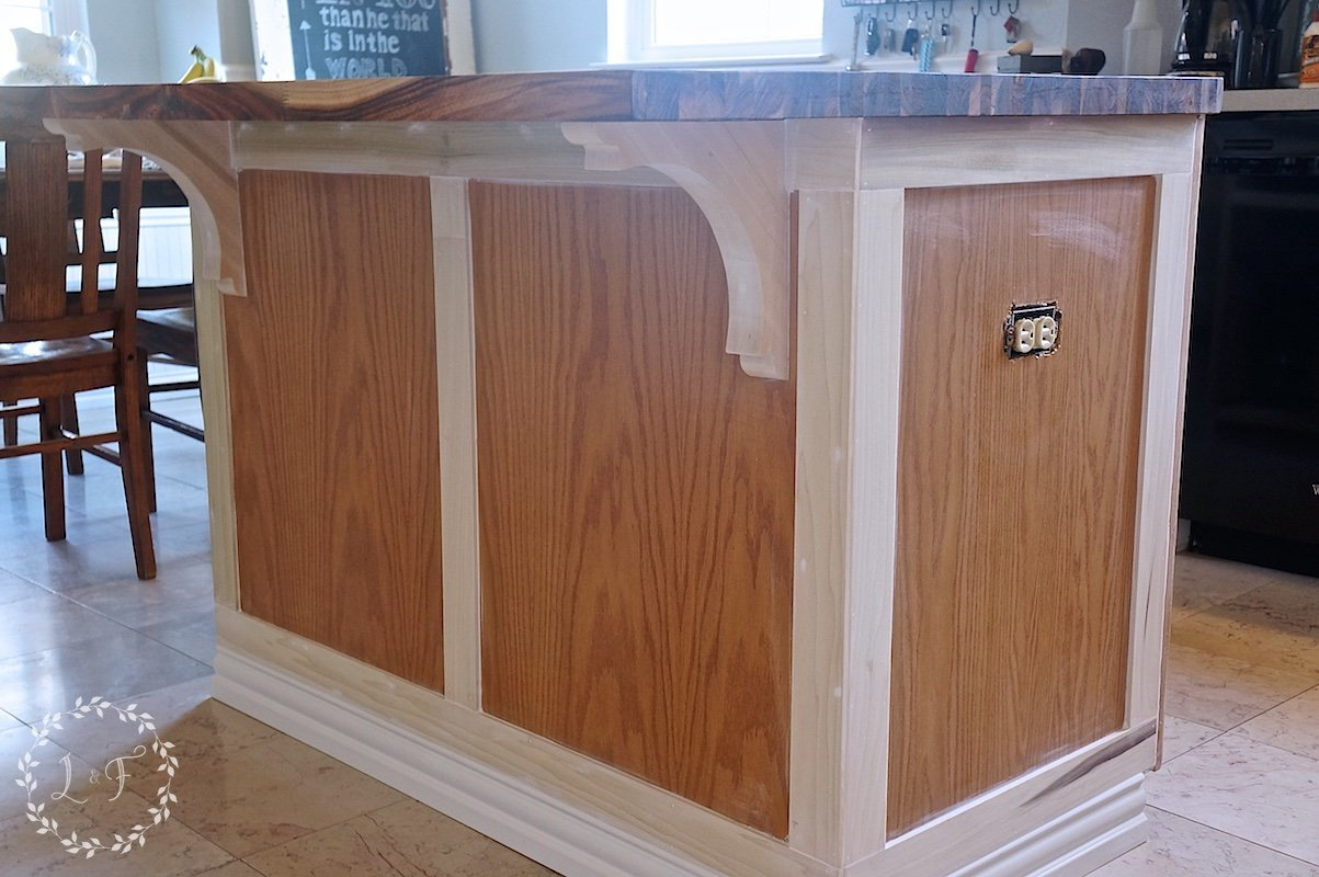 How To Customize A Kitchen Island With Trim Lost Amp Found