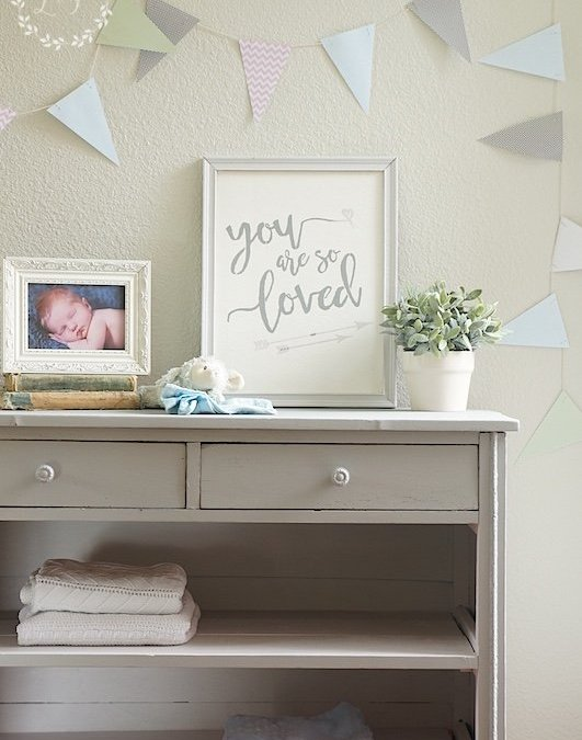 Trashed Dresser Turned Changing Table with Fusion Mineral Paint Little Lamb