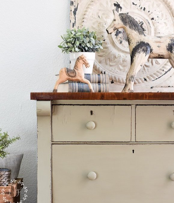 Empire Chest of Drawers Makeover with Fusion's Lichen