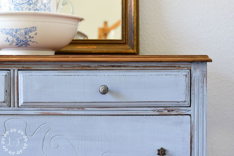Antique Dresser Makeover using Miss Mustard Seed's Milk Paint