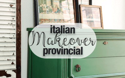 Italian Provincial Chest Makeover with Fusion Mineral Paint Park Bench