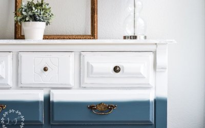 How to Paint a Dresser with a Blended Ombre Finish