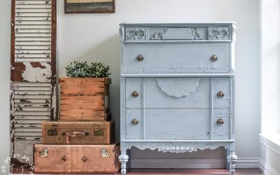 A Chippy Chest of Drawers Makeover with MMS Milk Paint