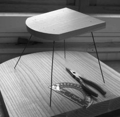 Nice backside. When I began designing the chair in this book, I started with rear legs that were angled 30° off the sightline. This angle gave the chair a wide stance that looked great from the rear.