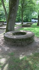 Some of the 99 wells at Saalburg (this is not well No. 49).