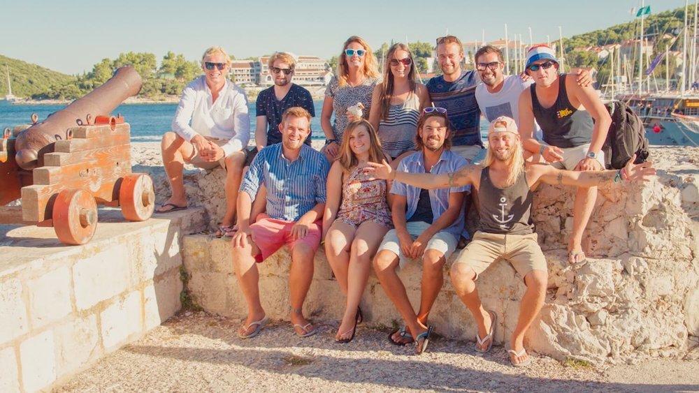 Medsailors Team Photo in Croatia
