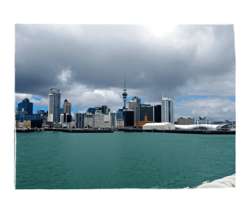 Auckland, New Zealand from the Ferry in Freeman's Bay