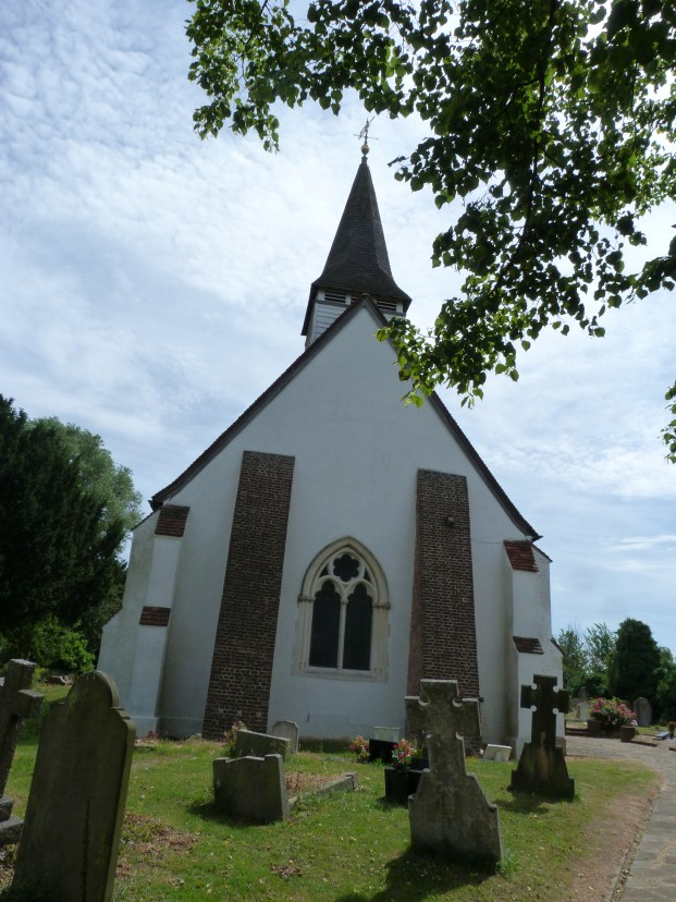 End of church with buttresses