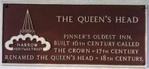 Queen's Head informative plaque