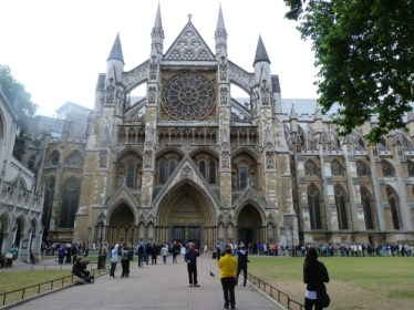 1 - Henry III's thirteenth-century north entrance with Rose Window - Copy
