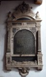 9 - Memorial to Thomas Withrings, Chief Postmaster (d. 1651)