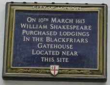 7 - Shakespeare's House, Blackfriars