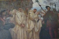 5 - Execution of Catholics at Tyburn (painting in Charterhouse)