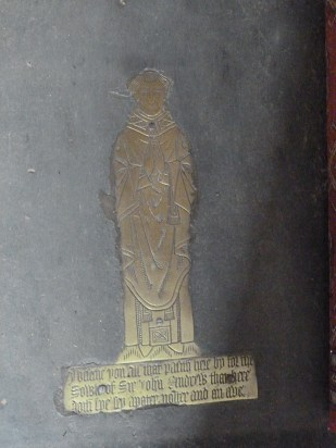 4 - Brass memorial to Sir John Andrew (d. 1479)