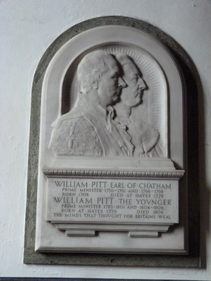 5 - Marble memorial to William Pitt the Elder (d. 1778) and William Pitt the Younger (d. 1806)