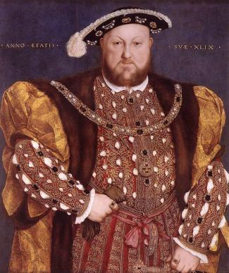 Henry VIII as portrayed by Holbein in 1536