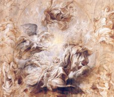Rubens's cartoon of the ceiling