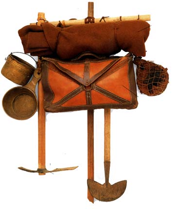 An artist's conception of the field pack ancient Roman soldiers wore