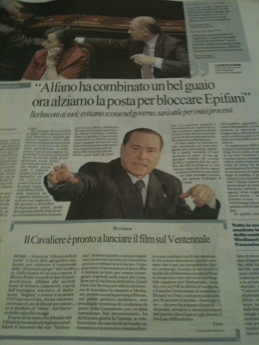 Berlusconi - Italian Newspaper