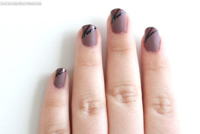 Layered Triangle Nail Arts Design Art