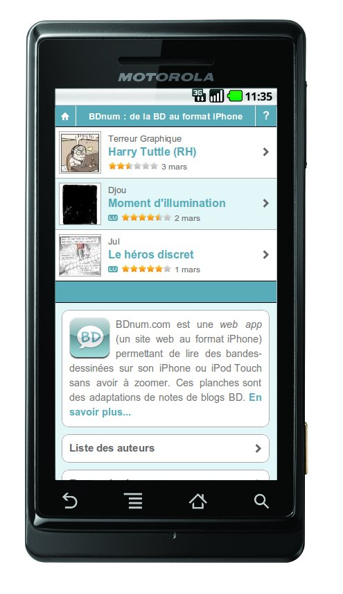 BDnum sur Android (Motorola Milestone)