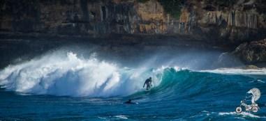 Surfing at Watukarung.