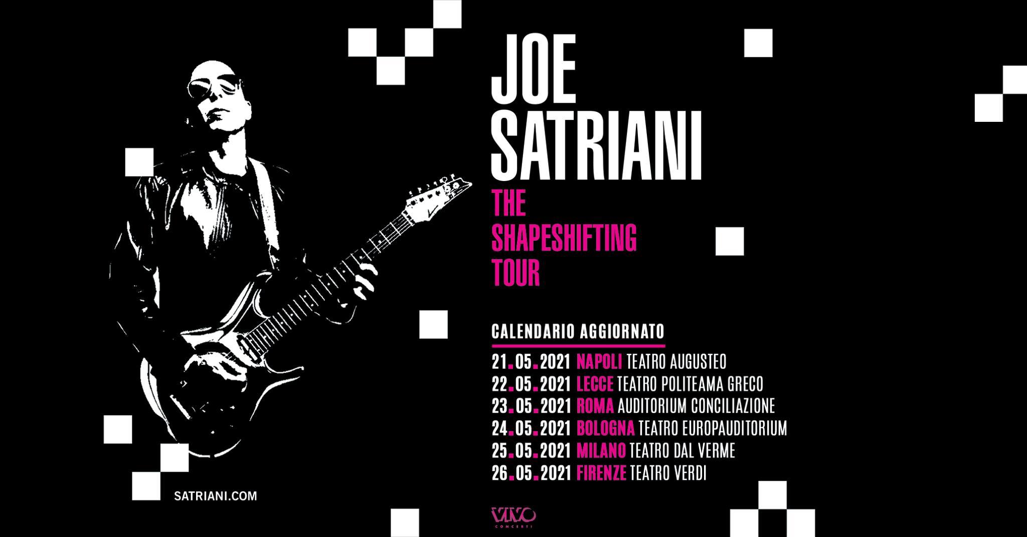 Posticipato al 26 maggio 2021 il concerto di Joe Satriani in