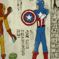 Superheroes Immortalized in Ancient Egyptian Art