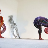 Human Sculptures Made From Recycled Electrical Cables