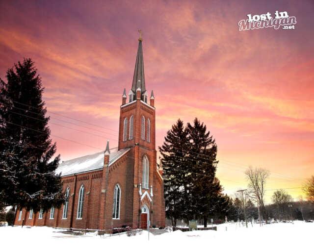 St Patricks church Michigan Historical Marker
