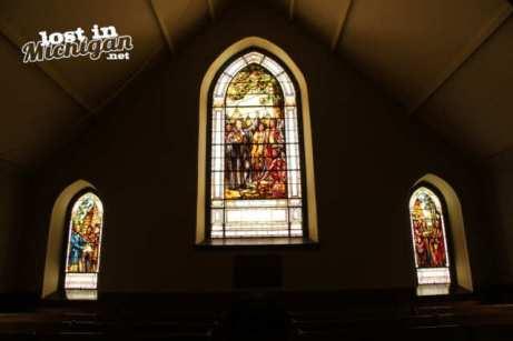 little stone church window