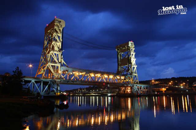 Houghton Hancock MI lift bridge