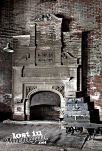 Potter Street Train Station fireplace