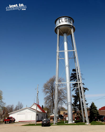 Elsie Michigan water tower