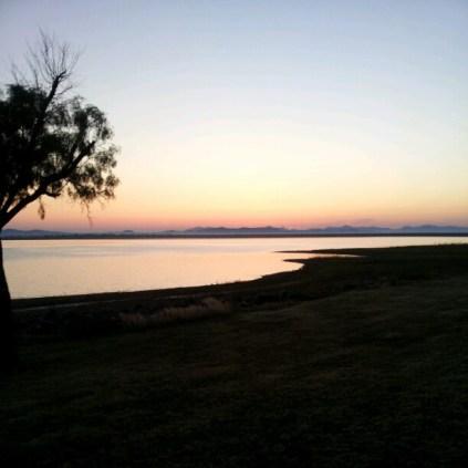 Dawn at Tom Steed Reservoir