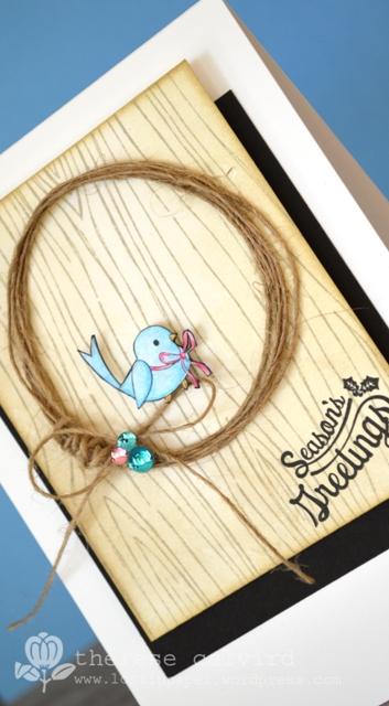 Season's Greetings - Bluebird - Detail