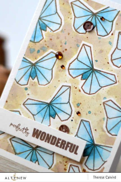 Altenew Ori Kami watercolor Butterfly card