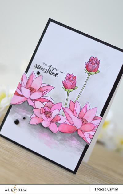 Lostinpaper - Altenew Lotus - Best Mom August Challenge Inspiration (1) copy