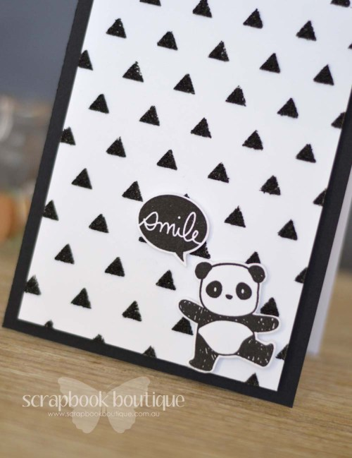 Lostinpaper - Mama Elephant Pandamonium / Everyday Greetings / Heidi Swapp triangle stencil