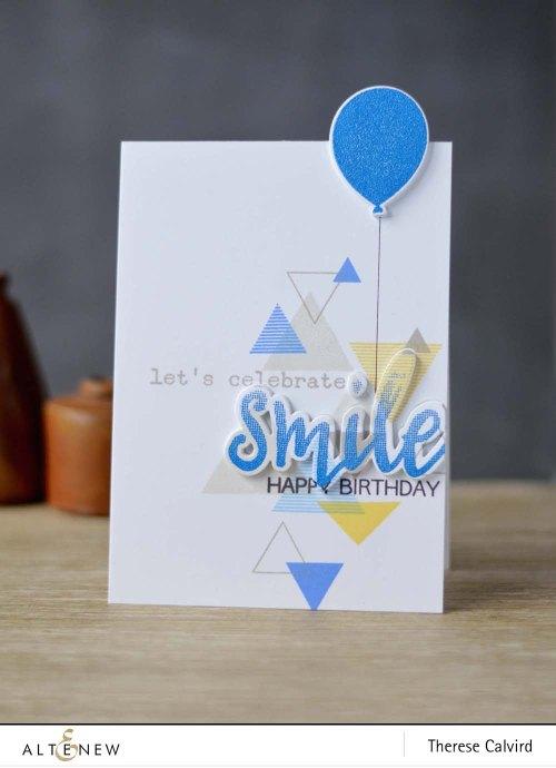 Altenew - Sohcahtoa - Halftone Smile - Birthday Greetings 1