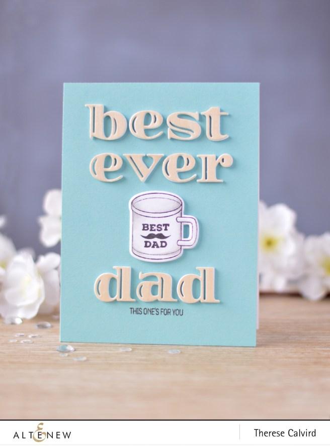 Altenew - Best Dad - Inline Alpha Die - Lostinpaper (card video) 1 copy