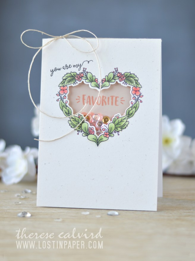 Lostinpaper - Neat & Tangled - Floral Heart - My Favorite Nut - Sequins (card video) 1