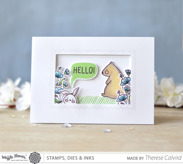 Lostinpaper - Waffle Flower Crafts- Tea for Two (card)