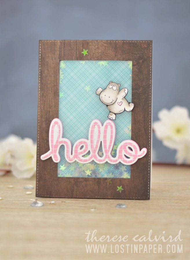 Lostinpaper - Paper Rose - Hip Hip Hooray - Stitched Rectangles - Layered Hello (card video) 1