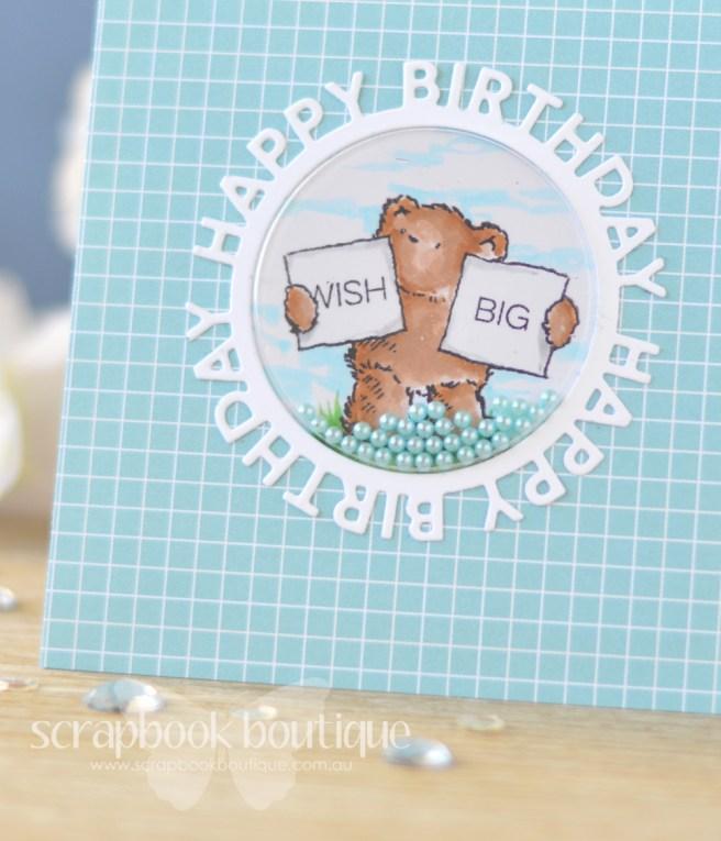 Lostinpaper - Penny Black - Birthday Bears - MFT - Happy Circle Die (card video) 1