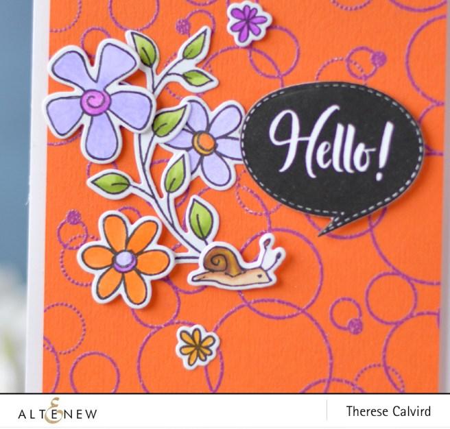 Altenew - Pattern Play Circle - Doodle Blooms - Speech Bubbles - Lostinpaper (card) 1 copy