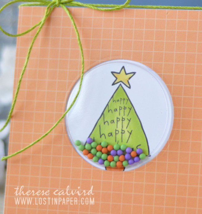 Lostinpaper - AnnaBelle Stamps - Chirstmas Shaker (card video)
