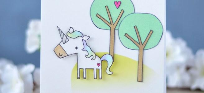Lostinpaper - Reverse Confetti - Unicorn Wishes (card video) 1