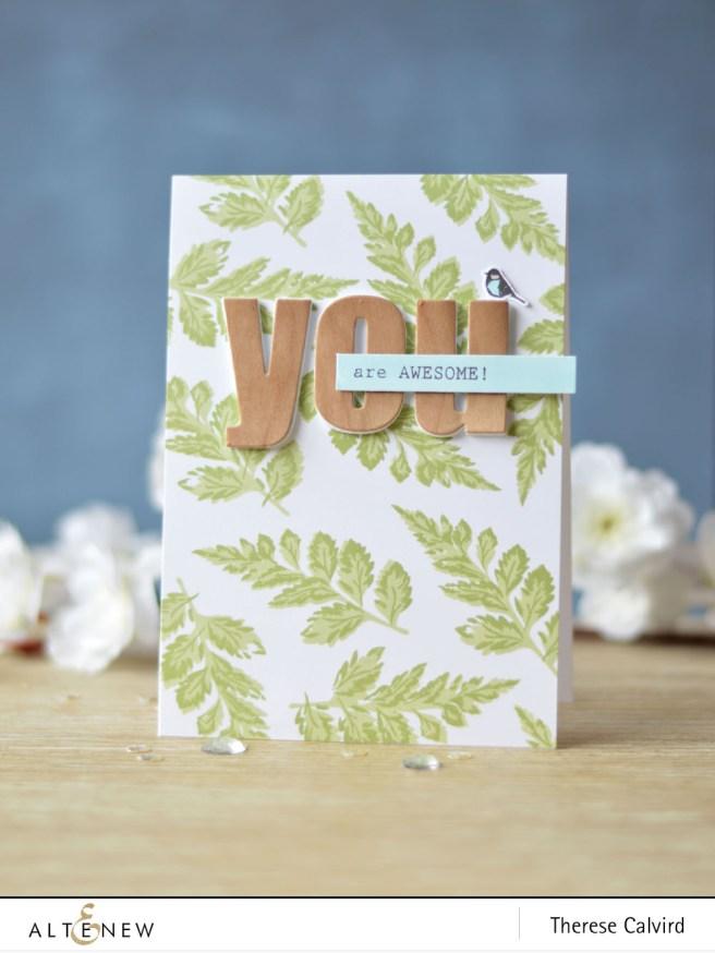 Altenew - BAF - Carnation - Bold Alphabet - Birch Land - You Are - Lostinpaper (card) 1 copy